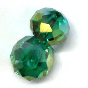 Chinese Crystal, 10mm rhondelle - Emerald AB