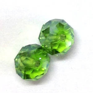Chinese Crystal, 8mm rhondelle - Grass Green AB