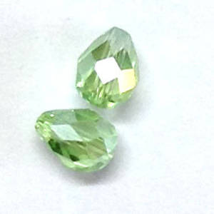 Chinese Crystal, 6mm x 8mm drop, Peridot AB
