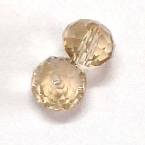 Chinese Crystal, 8mm rhondelle - Lt Golden Shadow