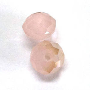 Chinese Crystal, 10mm rhondelle - Opaque Old Pink AB