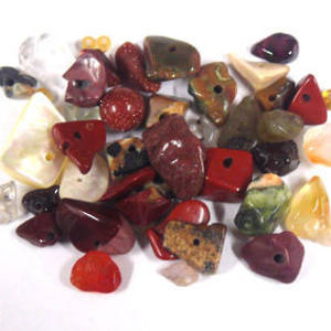 Semi-Precious Chip Mix - Brownish (small tube)