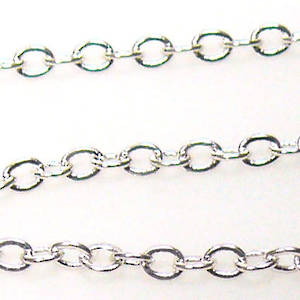 Very Fine Plain Chain: Bright Silver (2mm)