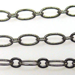 Fine Oval Chain: Gunmetal (6mm/3mm)