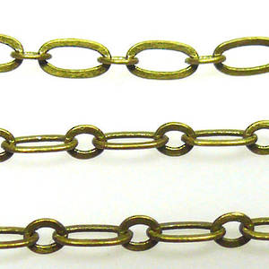 FIne Oval Chain: Brass (6mm/3mm)