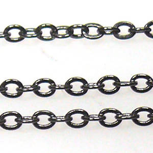 Very Fine Plain Chain: Gunmetal (2mm)
