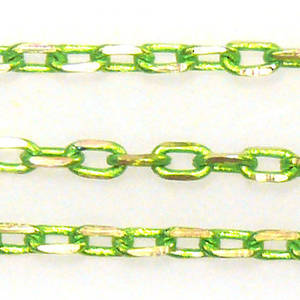 Coloured Chain: Lime Green (3mm)