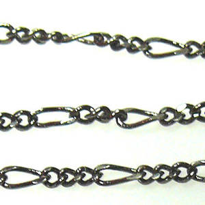 Fine Figaro Chain: Gunmetal (5mm/3mm)
