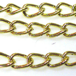 Very Thick Curbed Chain, Yellow Gold
