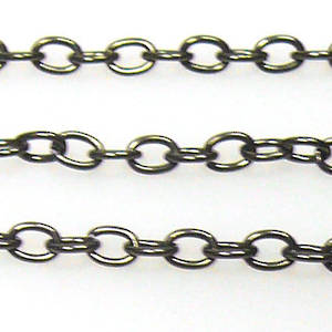 Fine Chain: Gunmetal (3mm)