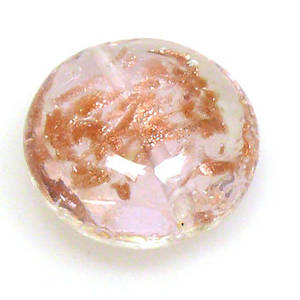 Chinese Lampwork Cushion, Transparent Pink with gold markings