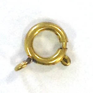 Spring Ring Clasp, big - antique gold