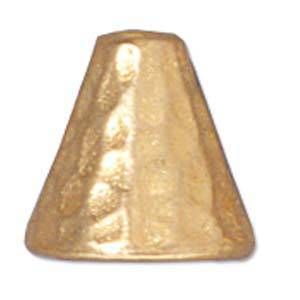 Gold Cone, hammered