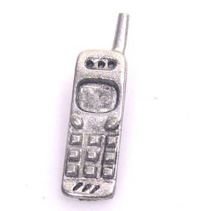Metal Charm: Cellphone - silver