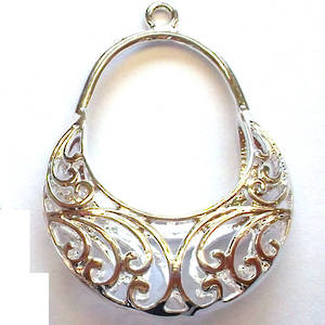 Metal filigree basket