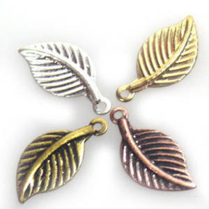 Stamped Tin Leaf: Ridged - silver/gold/copper/brass