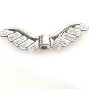 Metal Charm,  wing bead