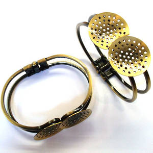 Sew on bracelet cuff, BRASS colour