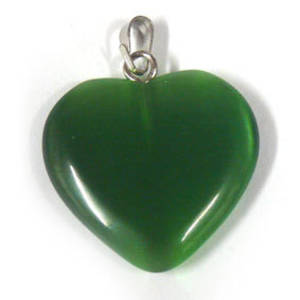 22mm Fibre Optic Heart: Green