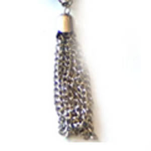 Premade Chain Tassle - antique silver