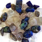 Mixed Tube of Semi-Precious Chips - Lapis and Quartzes