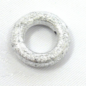 Acrylic Donut Style Piece, fat silver round