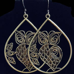 EARRINGS: Large Filigree Owls