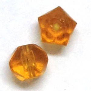 8mm rough cut facet - Amber