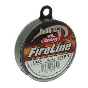 6lb Fireline, 50 yard spool: SMOKE GREY