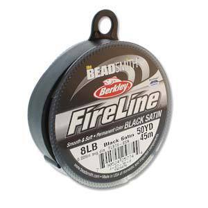 NEW! 8lb Fireline, 50 yard spool: BLACK SATIN