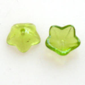 NEW! Cupped Flower, 10mm - Lt Olivine