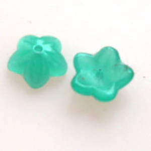 NEW! Cupped Flower, 10mm - Opaque Teal