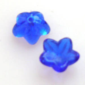 NEW! Cupped Flower, 10mm - Cobalt