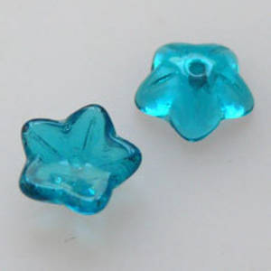 NEW! Cupped Flower, 10mm - Indicolite