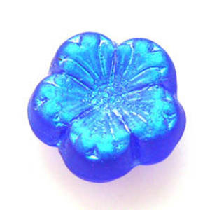 Jube Flower, 17mm - Royal Blue frosted AB