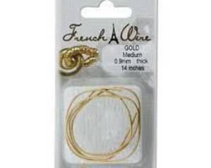 Medium French Wire (Gimp): Gold