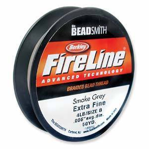 4lb Fireline, 50 yard spool: SMOKE GREY