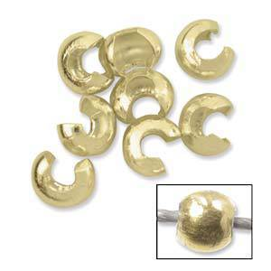 Gold Fill Crimp Cover: 4mm
