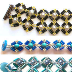 Project: Mosaic Bracelet, Bugle Bead version