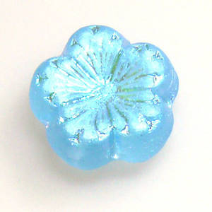 Jube Flower, 17mm - Aqua frosted AB