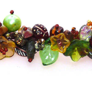 KITSET: Garden Bracelet - autumn and green tones