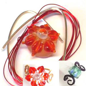 Wire Ring Kit, Red Flower