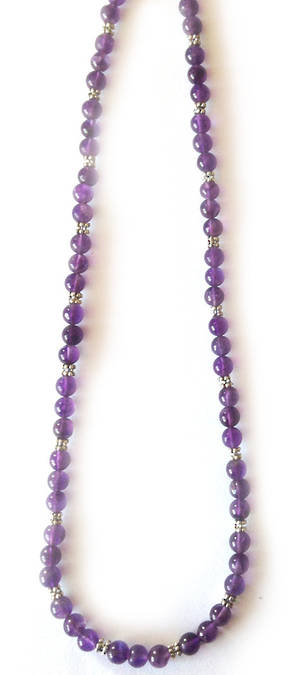 KITSET: Simple Semi Precious Necklace - Amethyst