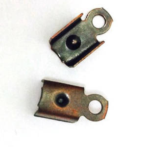 Fold Over Crimp (leatherend) - regular, 4.5mm: Ant Copper, no prong