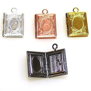 Opening Locket, shaped like a book