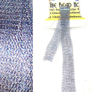 Italian Metallic Mesh Ribbon, Steel Blue