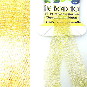 Italian Metallic Mesh Ribbon, Light Gold