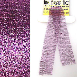 Italian Metallic Mesh Ribbon, Purple