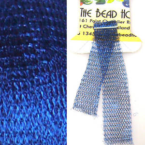 Italian Metallic Mesh Ribbon, Kingfisher Blue