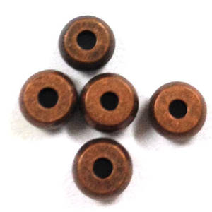 Metal spacer - 4mm plain washer - antique copper